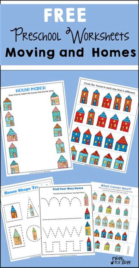 free preschool and kindergarten worksheets for mess for less