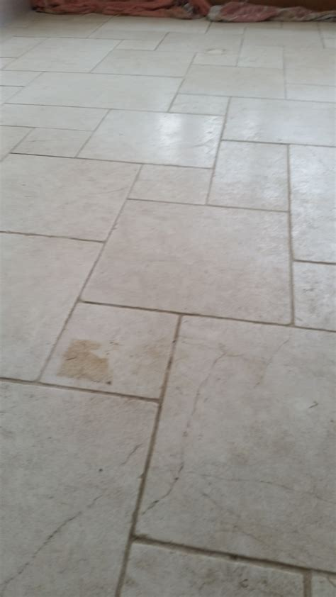 cracked limestone floor repaired and polished in hornchurch tile cleaners tile cleaning
