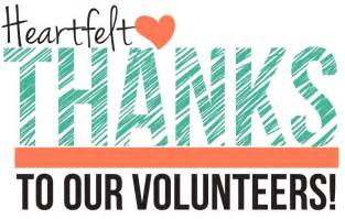 Image result for thank you volunteers