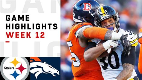 steelers  broncos week  highlights nfl  youtube