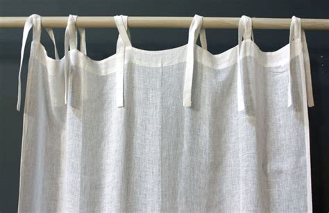 on sale linen voile tie top curtain panel modern