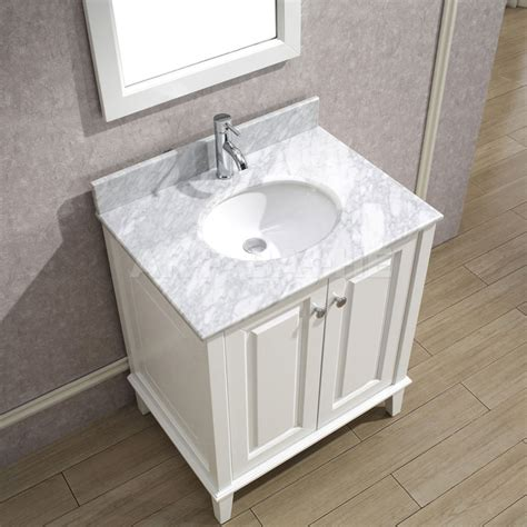 bathroom vanity cabinets with tops art bathe lily 30 white bathroom vanity solid hardwood