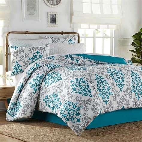 turquoise comforter set 6 8 complete comforter set in turquoise