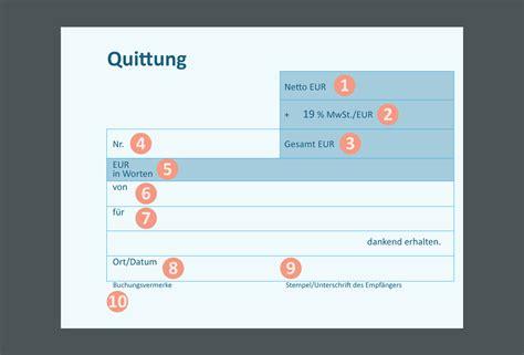 quittung als vektorisierte grafik  convictorius
