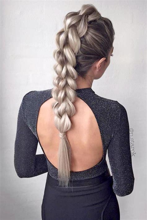 braids  long hair ideas  pinterest