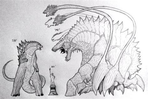 Drawn Godzilla Cute - Shin Godzilla Godzilla Coloring Pages , Free ... | 317x474