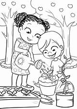 Coloring Pages Garden Gardening Colouring Sheets Nature Drawing Gardens Colorful Messy Play Worksheets Fairy Visit Bulkcolor Bulk sketch template