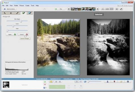 Google Picasa 39 Adds 27 Photo Effects, Sidebyside Editing