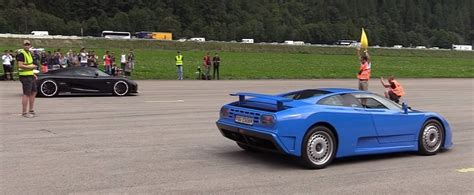 Watch the agera rs accelerate and decelerate quicker than a chiron. Bugatti EB110 Drag Races Koenigsegg Agera, Destruction Follows - autoevolution