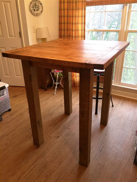 ana white small pub table diy projects