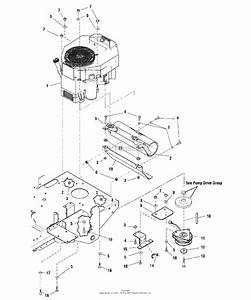 Snapper Zt19441kwv  5900609  44 U0026quot  18 Hp Ztr Fastcut Series 1 Parts Diagram For Engine  U0026 Pto Group