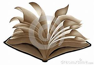 Flying Open Book With Fluttering Pages Stock Illustration ...
