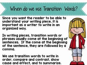 Transition Words For Contrast Transition Words Instructional Powerpoint By Primary