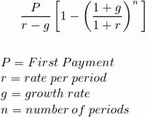Formulas For Annuities What Is The Formula For The Present Worth Of A Deferred