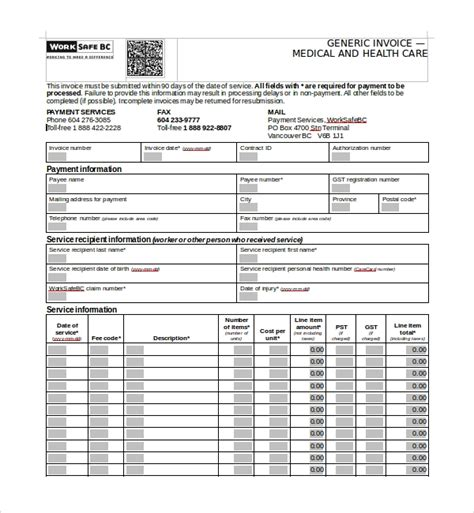 sample medical receipt template   documents