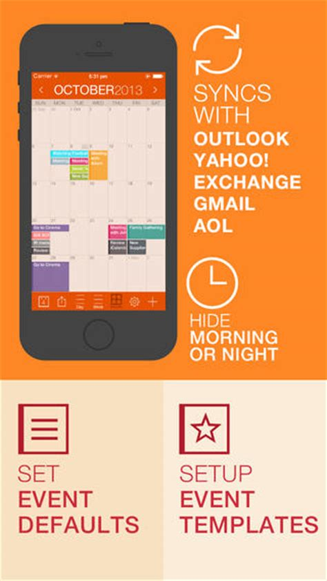 yahoo calendar iphone icalendar on the app on itunes