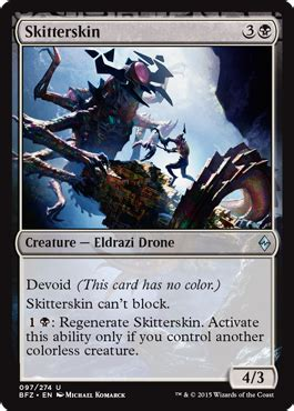 skitterskin from battle for zendikar spoiler