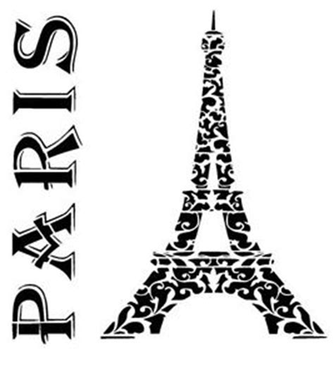 Paris Eiffel Tower Stencil Craft,fabric,glass,furniture