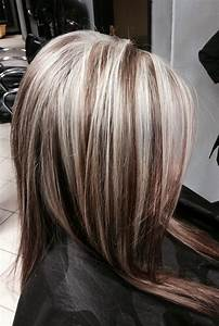 Heavy platinum highlights on dark hair | HAiR | Pinterest