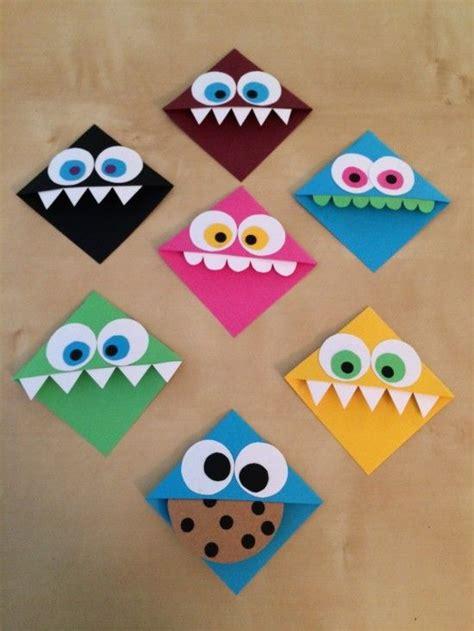 lesezeichen basteln grundschule creature bookmarks for oakland library
