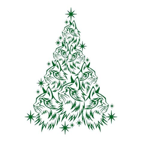 cat christmas tree cuttable design cat christmas tree