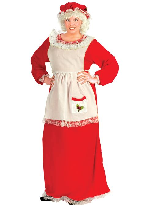 plus size mrs claus costume women s christmas costumes