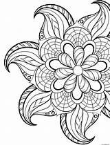Coloring Flowers Spring Mandala Pages Printable Prints sketch template