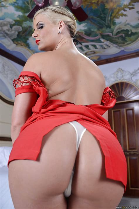 curvy milf in fancy red dress phoenix marie undressing and