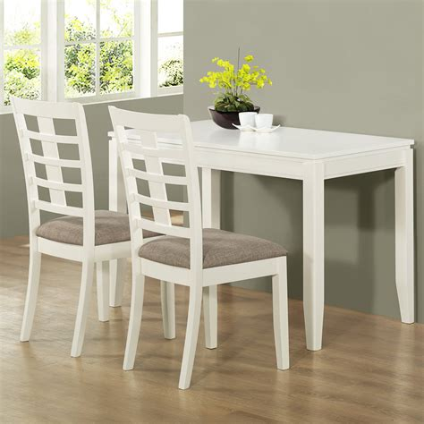 retro white painted pine wood dining table with gray