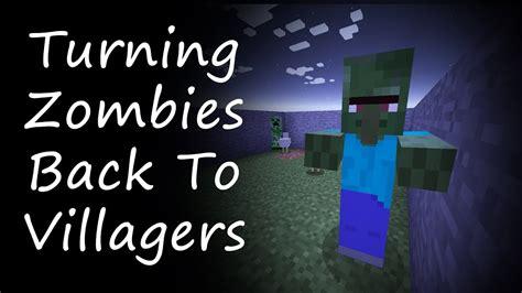 villager minecraft villagers turn zombies