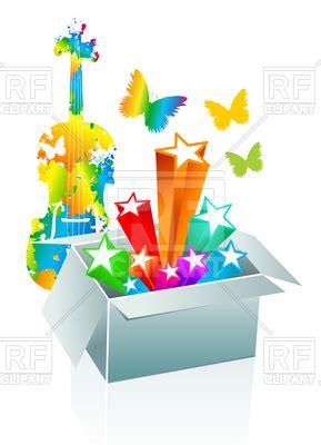 entertainment conception  open gift box vector