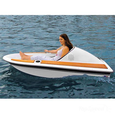 Small Two Person Motor Boat by Hammacher Schlemmer Redefines The One Person Electric