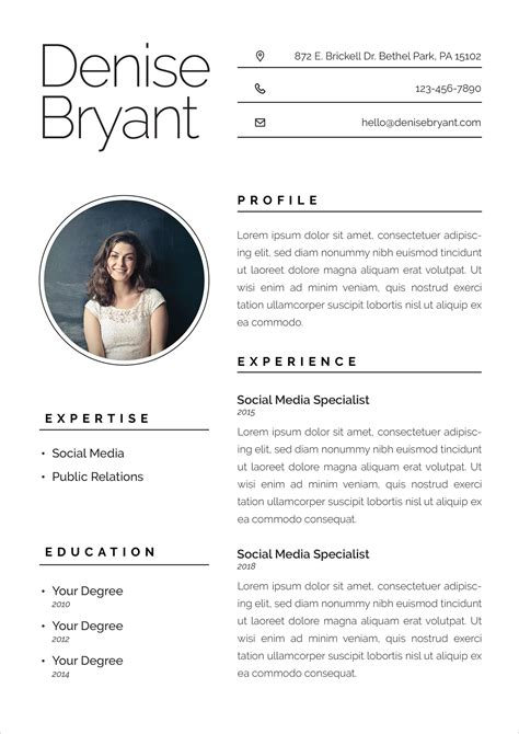 ai resume cv format  social media specialists