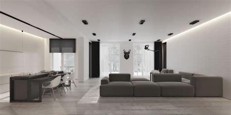 An Open Floorplan Highlights A Minimalist Design an open floorplan highlights a minimalist design