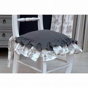 Galette De Chaise Maison Du Monde : galette de chaise en coton et lin 40x40 gris interior 39 s ~ Melissatoandfro.com Idées de Décoration