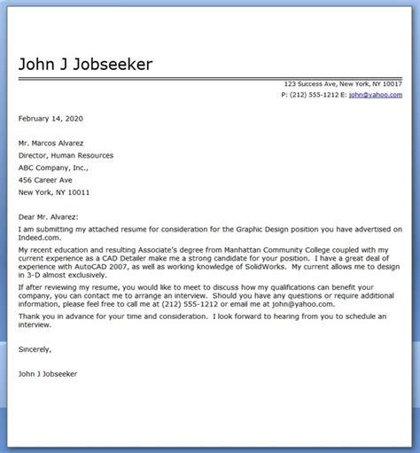 graphic design cover letter sample  resume downloads