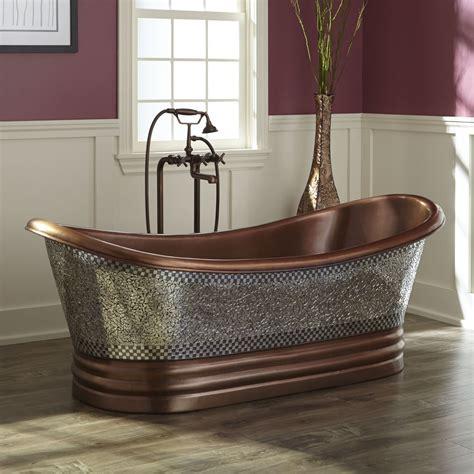 Copper Tub by 68 Quot Constantine Mosaic Copper Slipper Tub Tubs