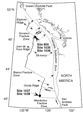 Site Map For Leg 169