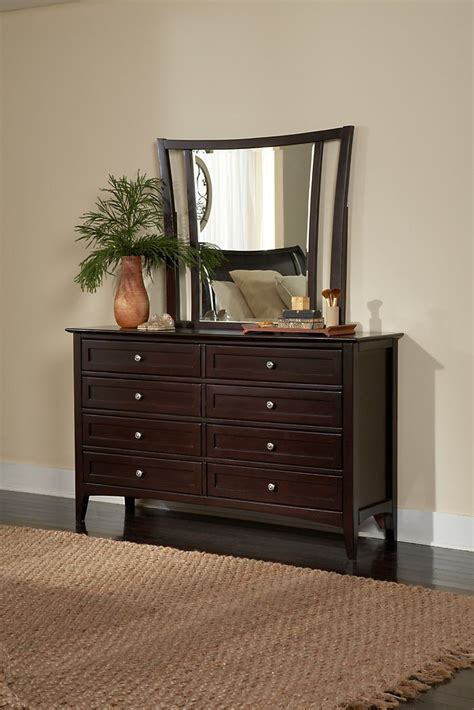 rc willey dresser java brown contemporary 6 california king bed