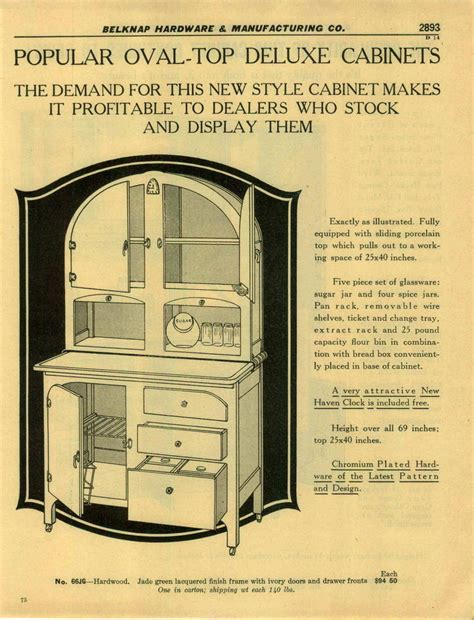 cabinet pictures kitchen 1932 paper ad 2 sided oval top deluxe kitchen cabinet 1932