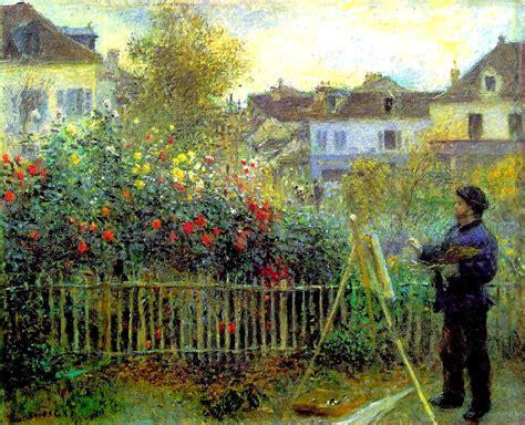 Claude Monet Che Dipinge Nel Suo Giardino Ad Argenteuil Di