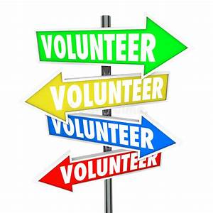 Volunteer Arrow Signs Share Donate Time Charity Work Stock ...