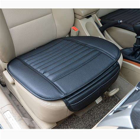 car bamboo charcoal leather seat cushion breathable