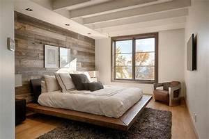 Lambris Peint En Blanc : papier peint chambre d 39 aspect bois 30 id es magnifiques ~ Dailycaller-alerts.com Idées de Décoration
