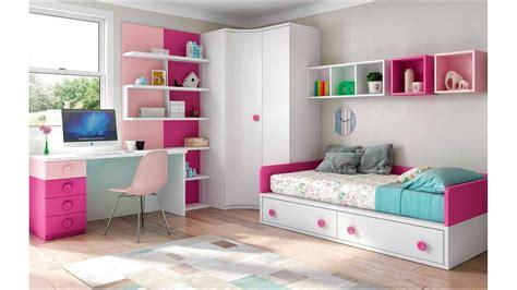 chambre enfant fille bicolore et pratique glicerio