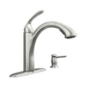 moen kitchen faucets warranty kinzel spot resist stainless one handle low arc pullout kitchen faucet 87035srs moen