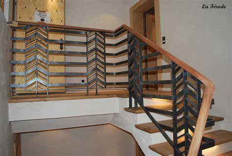 garde corps et re escalier metal bois la ferode