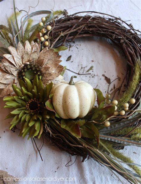 New Fall Wreath  Confessions Of A Serial Doityourselfer