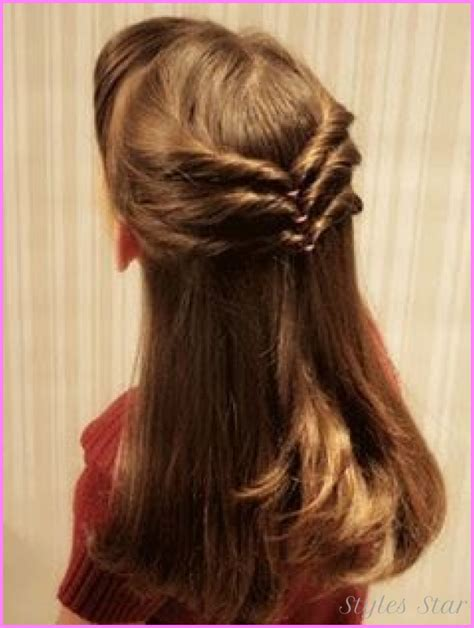 cute easy hairstyles for long hair school step by