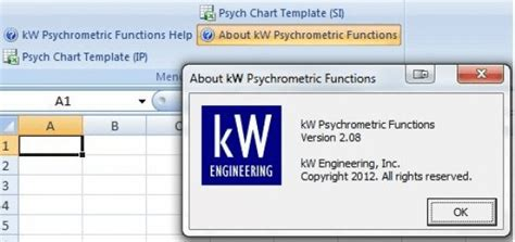 kw psychrometric functions this tool will allow